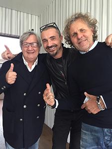 Con Renzo Rosso, mio capo per oltre 20 anni e Elio Abbagnato